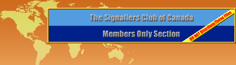 Signallers Club Members Only